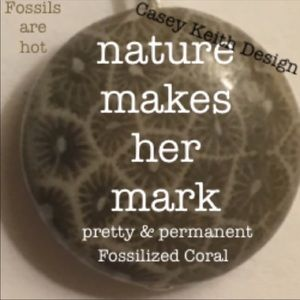 Casey Keith Design Jewelry - Fossilized Coral Earrings